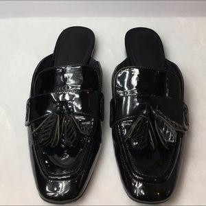Nine West - Patent Black Leather Slip On Flats